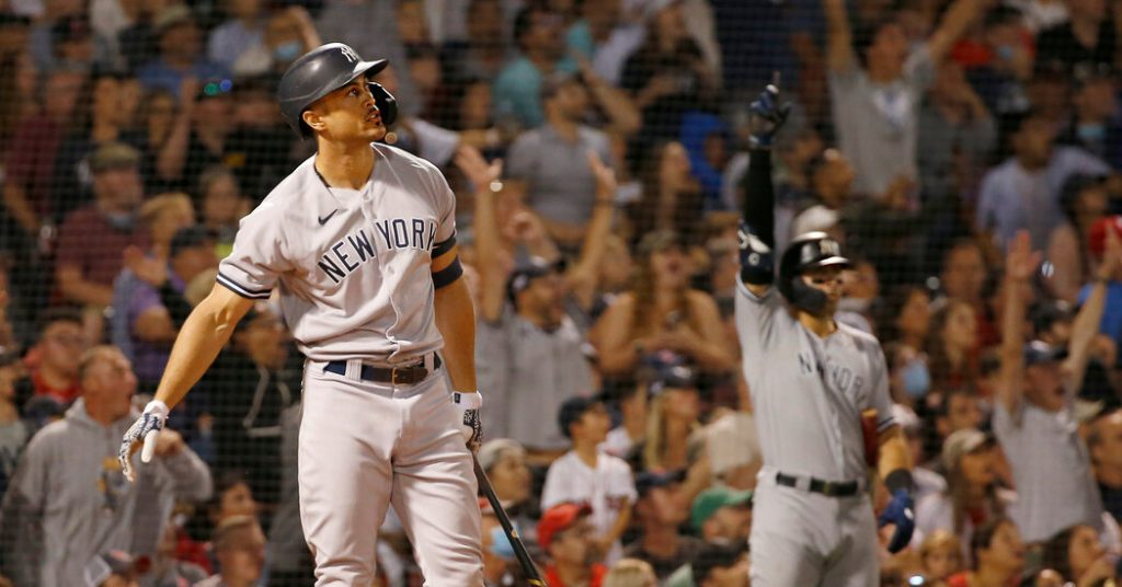 With Stanton Leading the Way, Yankees Pull Even With Red Sox